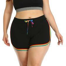 Plus Size Dolphin Shorts for Women Running Workout Short Athletic Bottoms