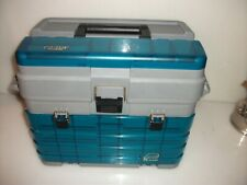 New listing Plano Guide Series Tackle Box W 4 Draws Top Tray & Spinner Bait Holder & Storage
