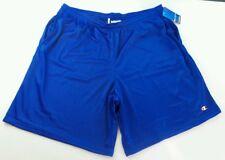 "Champion Men's Short Medium Blue Athletic Long Mesh Pocket 9"" Gym Shorts 81622"