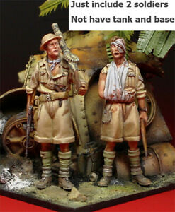 1:35 resin figure model 2 British soldiers in North Africa Unassembled Unpainted