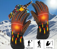 1 Pair Heated Gloves Rechargeable Battery Powered Touchscreen Winter Warm Gloves