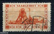 Saargebiet 80 C. Förderanlage 1927 Plattenfehler Michel 116 II geprüft (S6595)