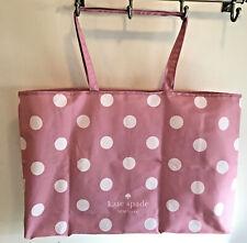 Kate Spade Extra Large Cotton Beach SHOPPER Reusable Tote Bag Pink Polka Dot