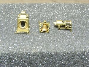 Brass HO Old Time Steam Locomotive Detail Parts Bell, Headlight & More