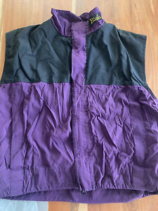 Vintage PLUSH SKI CLOTHING COLORADO Performance Ski Snow Vest MENS L/XL purple