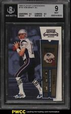 2000 Playoff Contenders Tom Brady ROOKIE RC AUTO #144 BGS 9 MINT