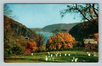 Harpers Ferry WV, View From Cemetery HIll, Chrome West Virginia Postcard