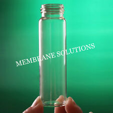 40ml Glass Screw Top Tube Small Glass Sample Bottle Vial 27x95mm Medical Lab
