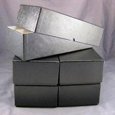 5 Black Double Row Cardboard Coin Slab Storage Boxes for NGC PCGS & Other Slabs