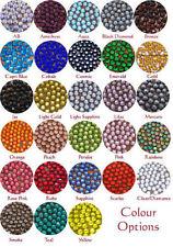Perline sfuse di strass rotondi