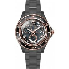 Invicta Women's 30376 Anatomic Quartz 3 Hand Black, Rose Gold Dial Watch