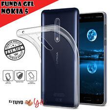 Funda gel Nokia 5 Estuyoya Carcasa trasera para Nokia 5 silicona transparente
