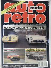 Revue AUTO RETRO moto magazine n° 92 - avril 1988 collection lagonda rapide dino