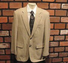 Saville Row Men's 39 Reg 100% Silk Beige Pattern Sport Coat/Jacket Beautiful
