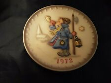 """M. J. Hummel 2nd Annual 1972 Collector Plate Goebel """"Boy With Horn"""" PreOwned"""