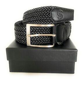 Caddy Club Golf Belt - Stretch Fit Wooven Golf Belt Black (NEW)