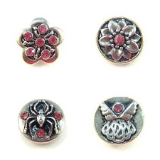 Noosa Style Chunks Mini Ginger Snap On Jewellery Button Charms Pink 12mm