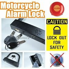 Motorcycle Scooter Bike Bicycle Anti-Theft Security U Lock w/ 3 keys