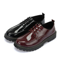 Mens New Black Casual Leather Red Smart Formal Lace Up Shoes UK SIZE 5 6 7 8 9