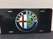 Alfa Romeo Racing Carbon Fiber Printed Aluminum License Plate