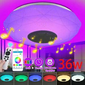 36W Moderne Led-deckenleuchte Lampe RGB Bluetooth Musik Lautsprecher Dimmbar