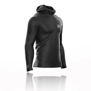 Compressport Mens Hurricane Waterproof 10/10 Jacket Top Black Sports Running