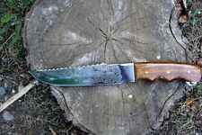 Handmade Custom Hunting Knife Natural Wood Handle.Yakut. Made in Ukraine!