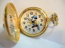 DISNEY MICKEY MOUSE ENGINEER POCKET WATCH / TIN  RARE LOWERED PRICE