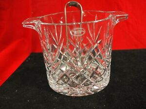 Beautiful French Royal Gallery Lead Crystal Ice Bucket