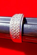 White Gold Ring with Zirconia stones. Size 8.5 14 k