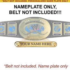 Custom Nameplate for Commemorative WWE Intercontinenta Championship Replica Belt