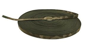 """Double Sided Official MTP Camouflage Military Spec 12.5mm 0.5"""" Webbing UK Woven"""
