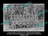 OLD HISTORIC PHOTO OF WWI BRITISH ARMY, 1/10th SCOTTISH REGIMENT, BETHUNE 1918
