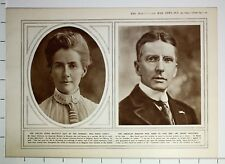 1915 WWI WW1 PRINT MISS EDITH CAVELL SHOT ~ AMERICAN MINISTER MR BRAND WHITLOCK