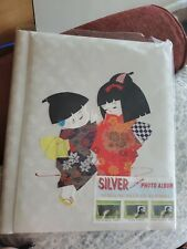 Vintage Tommy Japanese Silk Fabric Covered Photo Album 10 Page New unused Japan