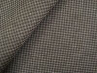 "3.47 yd Luxury Super Fine WOOL Check FABRIC Suiting 8 oz Charcoal 60""x 125"" BTP"