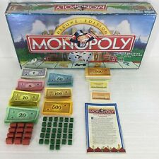 Lot Replacement Pieces Deluxe Edition Monopoly Wooden Houses Hotels Money Cards
