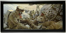 Star Wars ESB REBELS TROOPS ELUDE AT-AT FRAMED CONCEPT PRINT Chiang 1980 Empire