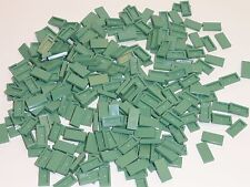NEW LEGO Tiles Sand Green 1X2 Smooth Finishing Floor Tiles 100 Pieces 3069