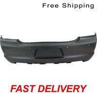 Primered Rear Bumper Cover W/ Parking Aid Sensor Holes Fits Charger CH1100963