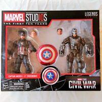 CAPTAIN AMERICA & CROSSBONES Marvel Legends MCU 10th Anniversary Figure 2-Pack