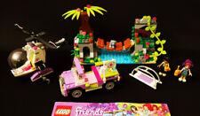 LEGO Friends Jungle Bridge Rescue 41036 Mia Matthew 100% Complete with Manuals