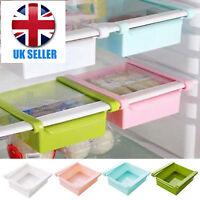Fridge Slide Freezer Kitchen Space Saver Organizer Holder Storage Rack Shelf @&