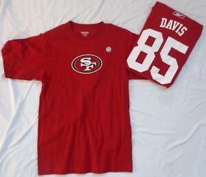 San Francisco 49ers Football Vernon Davis Short Sleeve Shirt Red New