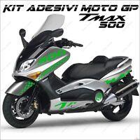 ADESIVI SPORT CARENA GRAFICA COMPATIBILE YAMAHA TMAX T MAX 500 01/07 VERDE MOTO