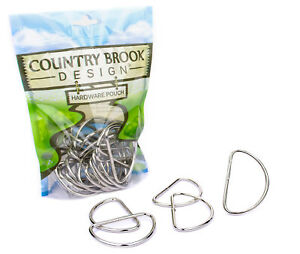25 - Country Brook Design® 2 Inch Nickel Plated Welded Lite D-Rings