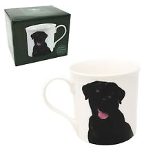 Labrador noir blanc Tasse en porcelaine fine boite présentation à thé café