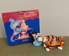 2 Disney Schmid Figurines: Jasmine and Rajah from Aladdin Nib
