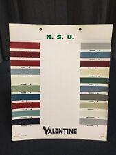 Rare Nuancier Colori VALENTINE 1960-70 NSU !!!
