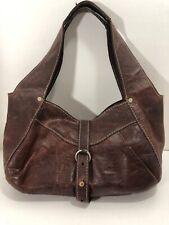RUEHL NO.925 Brown Distressed Leather Abercrombie Fitch Boho Handbag Purse Bag
